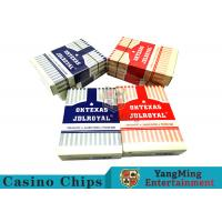 Buy cheap 3.3mm Thickness Plastic Coated Playing Cards , Entertainment Pvc Playing Cards  from wholesalers