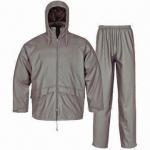 China PU Rainwear for Adults, Waterproof 3,000mm, Jacket and Pants wholesale