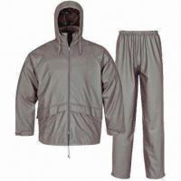China PU Rainwear for Adults, Waterproof 3,000mm, Jacket and Pants wholesale