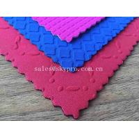 China Customized Colorful Various Shape Neoprene Fabric 5mm OK Lycra Fabric Rubber Sheet with Mesh Fabric on sale