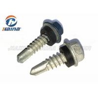 Quality Roofing Tek self drilling hex head screws With EDPM Washers , Mechanical Plating for sale