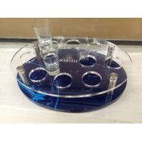 China Customized Acrylic Wine Display Case , Wine Glass Tray With Logo wholesale