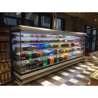 Quality 12ft Long Grocery Store Multideck Open Chiller LED Lighting Multideck Display Fridge for sale