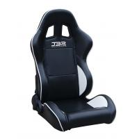 Quality Black / White Custom Racing Seats Fully Reclinable 89 * 69 * 55 cm for sale