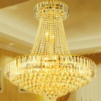 China Large gold and crystal chandelier For hotel Project Lighting Fixtures (WH-NC-13) wholesale