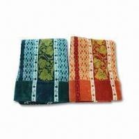 China Velour-printed Towel Blanket with Double Jacquard Border, Made of 100% Cotton wholesale