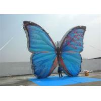 China Outdoor Advertising Inflatable Butterfly Beautiful Blue High Tear Strength wholesale