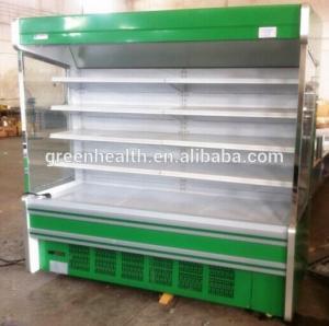 Quality Health Built-In Compressor Multideck Open Chiller For Fruit / Vegetable / Beverage for sale
