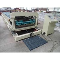 Quality Solid Steel Shaft Metrocopo Tile Roll Forming Machine with CE certificate for sale