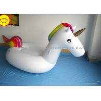 China Sunway Unicorn Inflatable Water Floats Giant 270cm PVC Animal Pool Floating Toys wholesale
