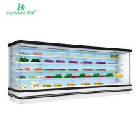 China R404a / R134 Multideck Open Chiller / Supermarket Display Refrigerator Fan Cooling Type wholesale