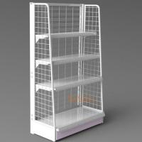 China White Metal Display Racks / Floor Displays Retail Snack Daily Commodity Promotion wholesale