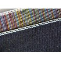 China 15.5oz Color Blended Stretch Cotton Twill Fabric Straight For Jeans Breathability wholesale