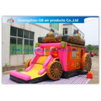 China Giant Outdoor Car Inflatable Princess Bouncy Castle With Slide For Children Toys wholesale
