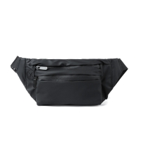 Buy cheap Nylon wallet waist pouch, black crossbody pack, outdoor waterproof from wholesalers