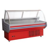 China Red / White Meat Display Cooler , 0°C - 10°C Deli Display Refrigerator For Shop on sale