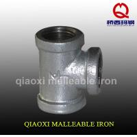 China QIAO brand galvanized malleable iron pipe fitting tee wholesale