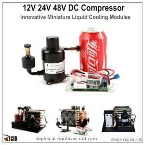 China 48V Miniature Cooler Compressor for Fluid Chiller and Cooler/refrigeration compressor/rotary compressor wholesale