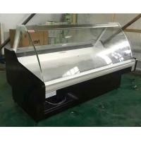China Stainless Steel Curve glass cold Deli Display Cooler for freash meat on sale