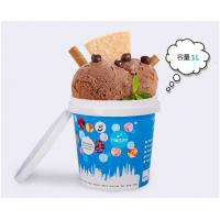 China 1L Custom Plastic Disposable Ice Cream Cups With Lid , Throw Away Food Storage Containers on sale