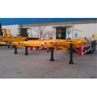 China 48ft 40 Tons Gooseneck Flatbed Container Trailer , 3 Axles Flatbed Truck Trailer wholesale