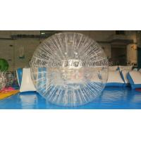 China Grass Rolling TPU Inflatable Zorb Ball , Inflatable Theme Park Zorb Hamster Ball wholesale