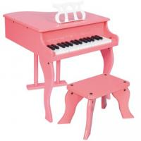 China 30 Key Pink Mini Grand Toy Wooden Piano With Stool Junior Keyboard Instrument W30 wholesale
