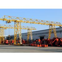 China Truss ELectric Single Girder Gantry Crane With Hook / Strong Lifting Winch Easy Control wholesale