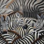 China Handmade Abstract Art Canvas Paintings Animal Zebra Print Canvas Wall Art wholesale