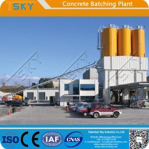 China Belt Conveyor Feeding Type HZS90 RMC Batching Plant wholesale