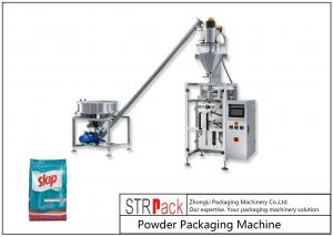 China Pillow Bag Gusseted Bag Block Bottom Bag Vertical Form Fill Seal Powder Packaging Machine With Auger Filler wholesale