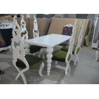 China Restaurant Elegant White Wooden Modern Dining Room Tables And Chairs (180 cm) wholesale