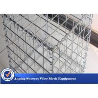 China Silver Galvanized Gabion Mesh Cage / Stone Cage Wire Mesh Easy Install wholesale