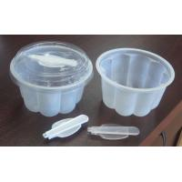 China 250ml Clear Dessert Disposable Ice Cream Cups For Salad 5.5cm on sale