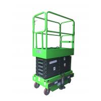 China Platform Height 6m , Loading Capacity 300kg MINI Manual Pushing Mobile Scissor Lift with Outriggers wholesale