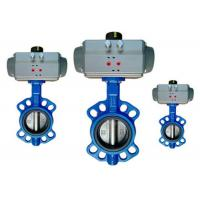China Flange / Wafer Type Pneumatic Operated Butterfly Valve DN40 ~ DN600 wholesale