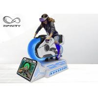 China Dynamic Platform Moto Racing 9D VR Simulator With HD Display Screen wholesale