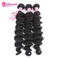 China Loose Deep Wave Real Brazilian Hair Bundles , Curly Human Hair Weave wholesale