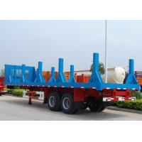 Steel Coil Transportation FlatBed Semi Trailer , 30ft Flatbed Equipment Trailer