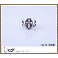 China Elegant Designs and Excellent Finishing 316l Stainless Steel Cross Ring H-JK0039 wholesale