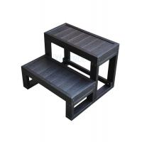 China Composite Hot Tub And Spa Steps Black Jacuzzi Pool Ladder For Square Spa wholesale