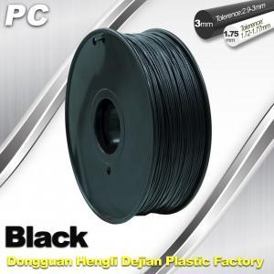 China High Transparent 1.75mm / 3.0mm 3D Printer Filament  , PC Filament  temperature 230°C  - 280°C wholesale
