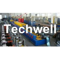 China High Quality PU Foam Rolling Door Slat Roll Forming Machine With Flying Saw Tracking Cut wholesale