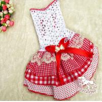 China Red dog skirt, hollow out skirt like cake shape wholesale