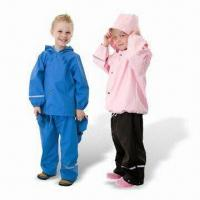 China PU Children's Rainwear, Various Styles are Available wholesale