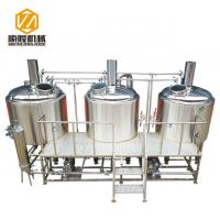 Buy cheap 1000L Three vessels small brewery equipment with brewhouse and fermenter from wholesalers