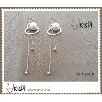 China Elegant designs 925 sterling silver gemstone earrings with imitated pearl W-AS119 wholesale