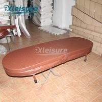 China Abrasion Resistance Hot Springs Hot Tub Cover Energy Efficiency Wood Spa Cover wholesale