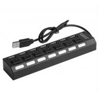 China 7 Ports Powered USB 2.0 Hub 480Mbps Portable 16.5 * 3.5 * 2.5cm For PC Laptop MAC wholesale