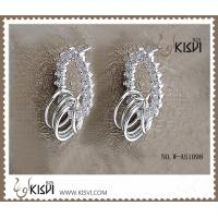 China 925 fashion sterling silver gemstone earrings with competitive price W-AS1098 wholesale